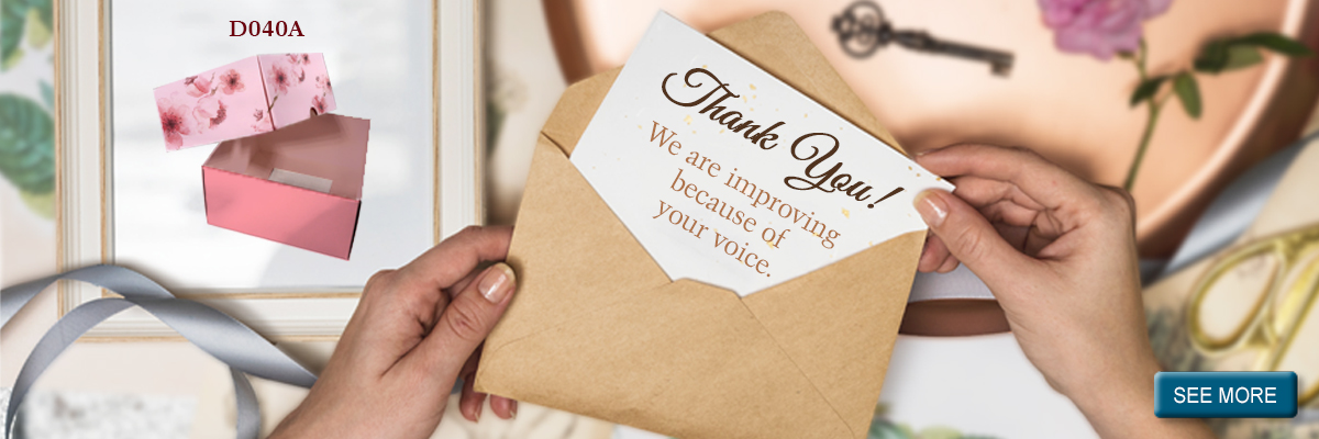 Packaging-We Are Improving Because Of Your Voice