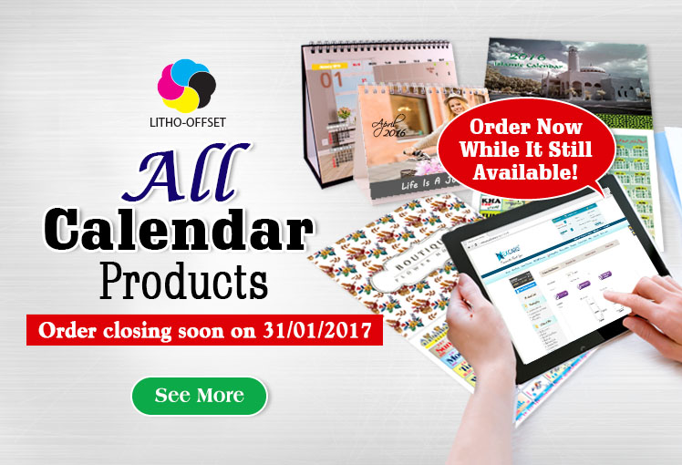 All Calendar Products & Wire-O Notebook (Diary Planner) - Order Ending Soon