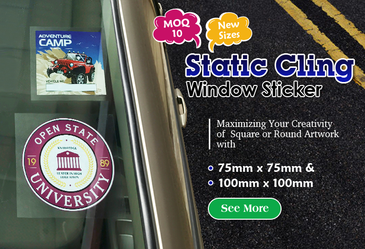 Print Round & Rectangle Window Static Cling Now!