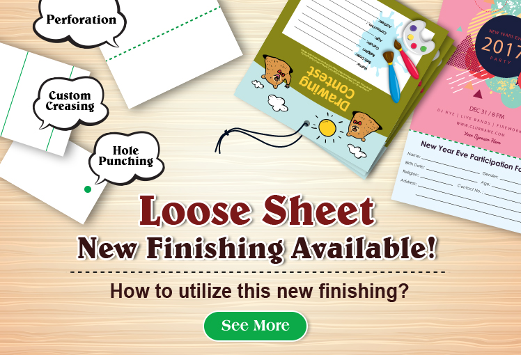 Loose Sheet New Finishings - Perforation, Hole Punching & Custom Creasing