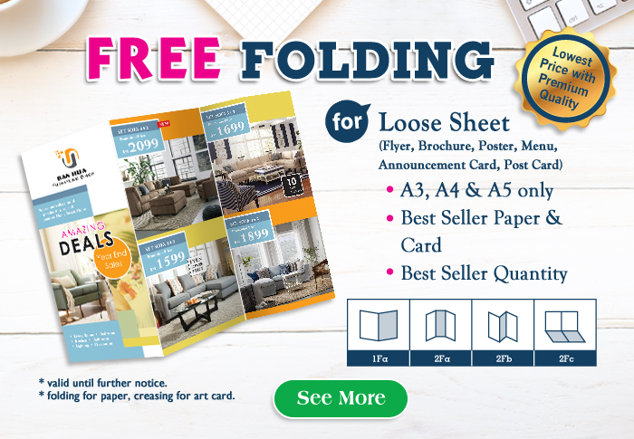 Earn More With Flyer & Brochure FREE Folding