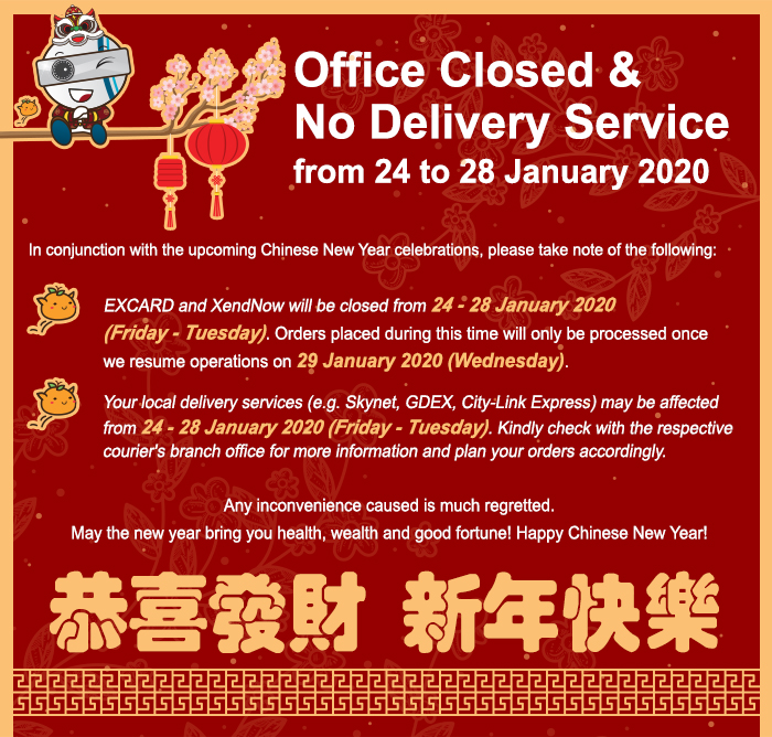 Office Closed & No Delivery Service for Chinese New Year