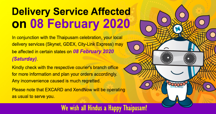 Delivery Service Affected on Thaipusam Day