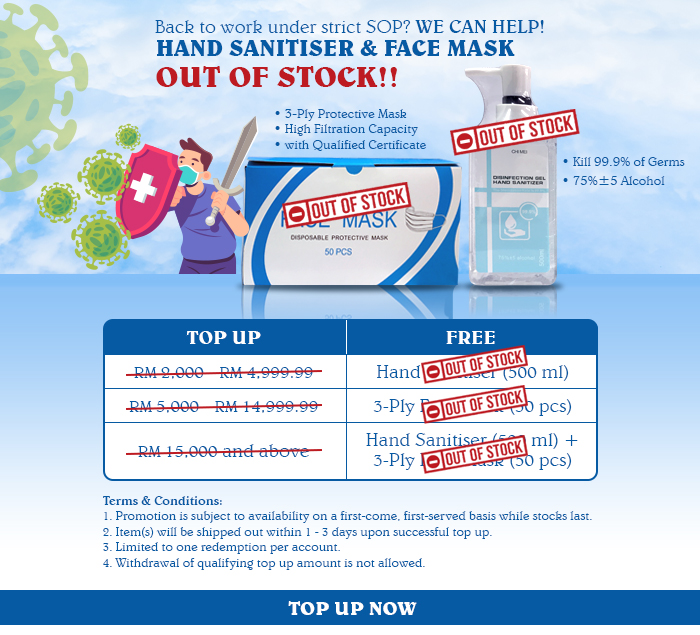 FREE Hand Sanitiser Face Mask available now! (End)